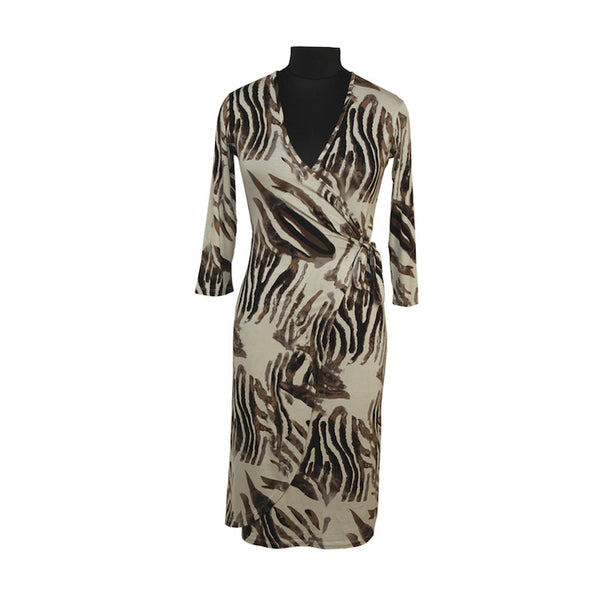 Fabulloso Wrap over Animal Print Dress