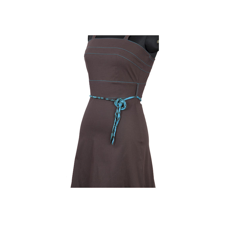 Fabulloso Brown and Turquoise Strappy Dress