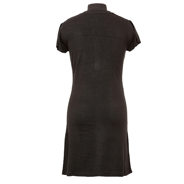 Fabulloso Women's Buttoned Tunic Black
