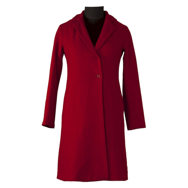 Fabulloso Red Woollen Long Coat