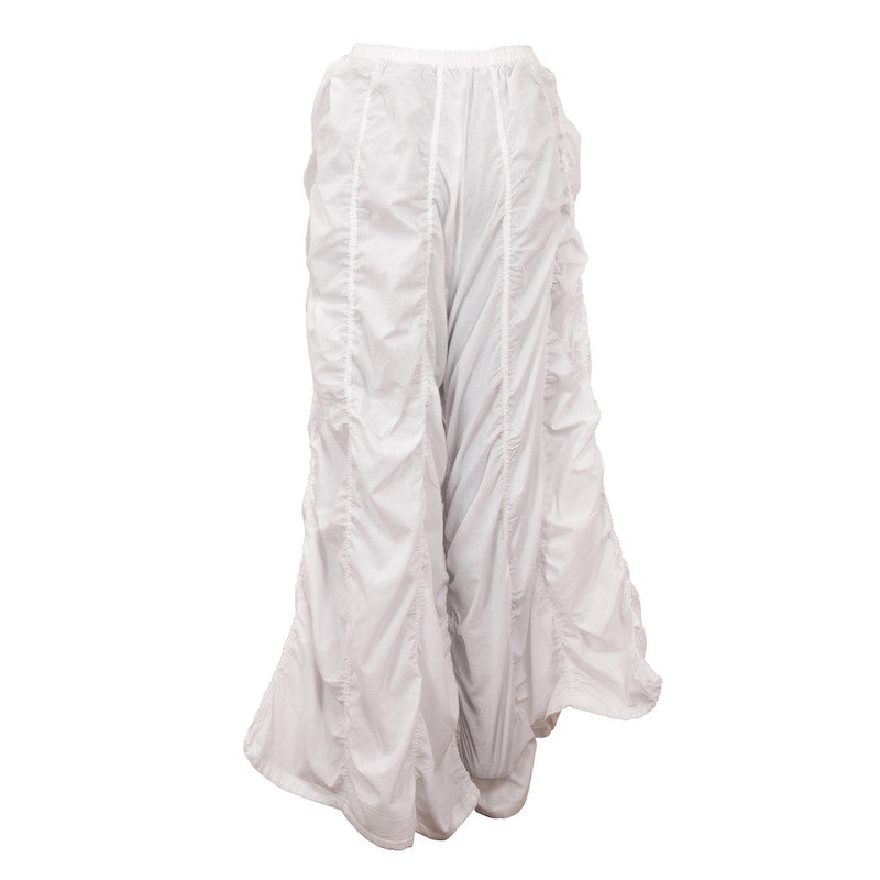 Fabulloso Scalloped White Balloon Pants