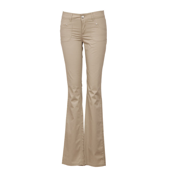 Fabulloso Beige Women's Flared Pants