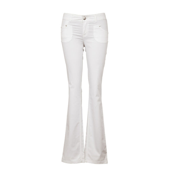 Fabulloso Women's White Flared Pants