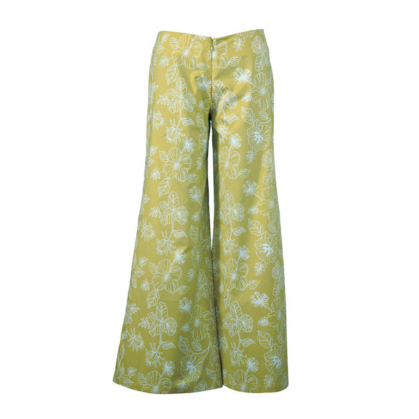 Fabulloso Women's Lime Bell Bottoms