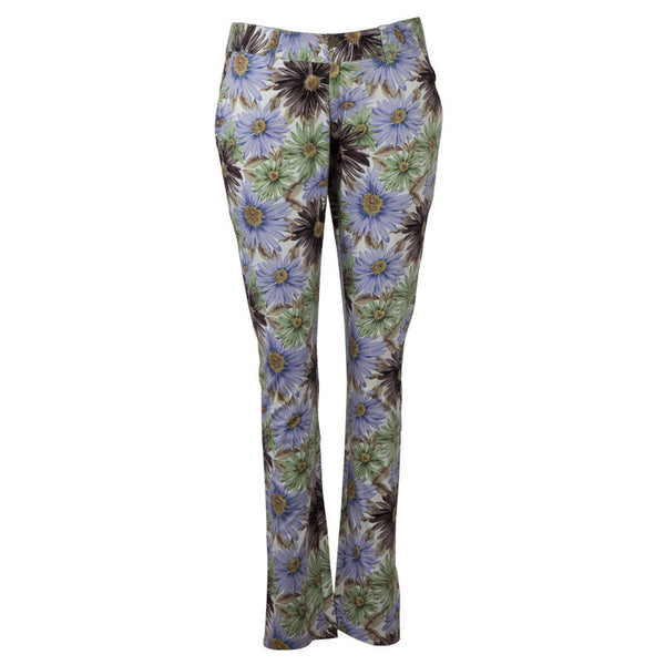 Fabulloso Lilac & Brown Floral Slim Pants