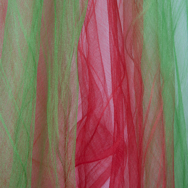 Ombre silk stole Green and red