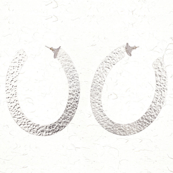 U hoops earrings