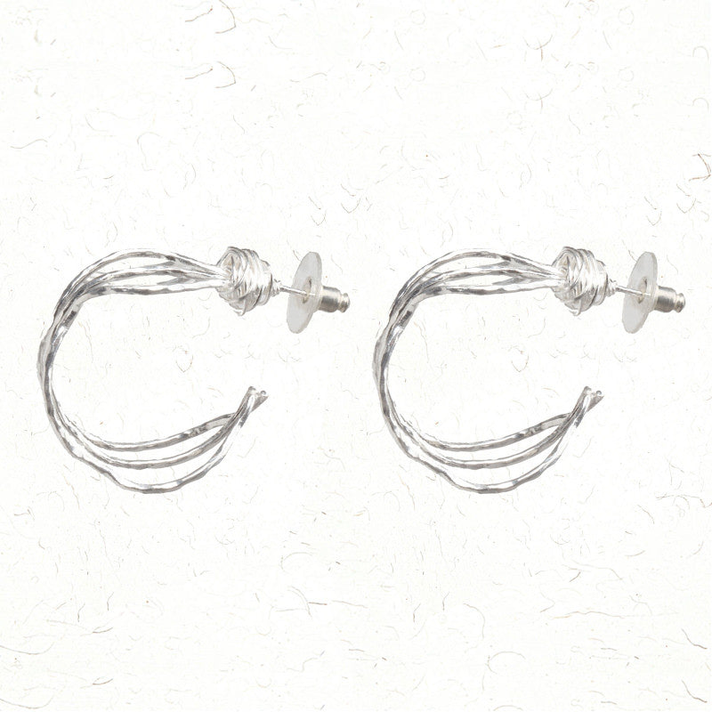 Whimsical silver earrings
