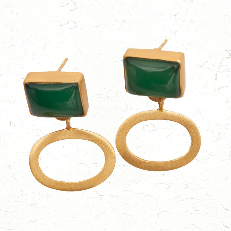 Emerald envy earrings
