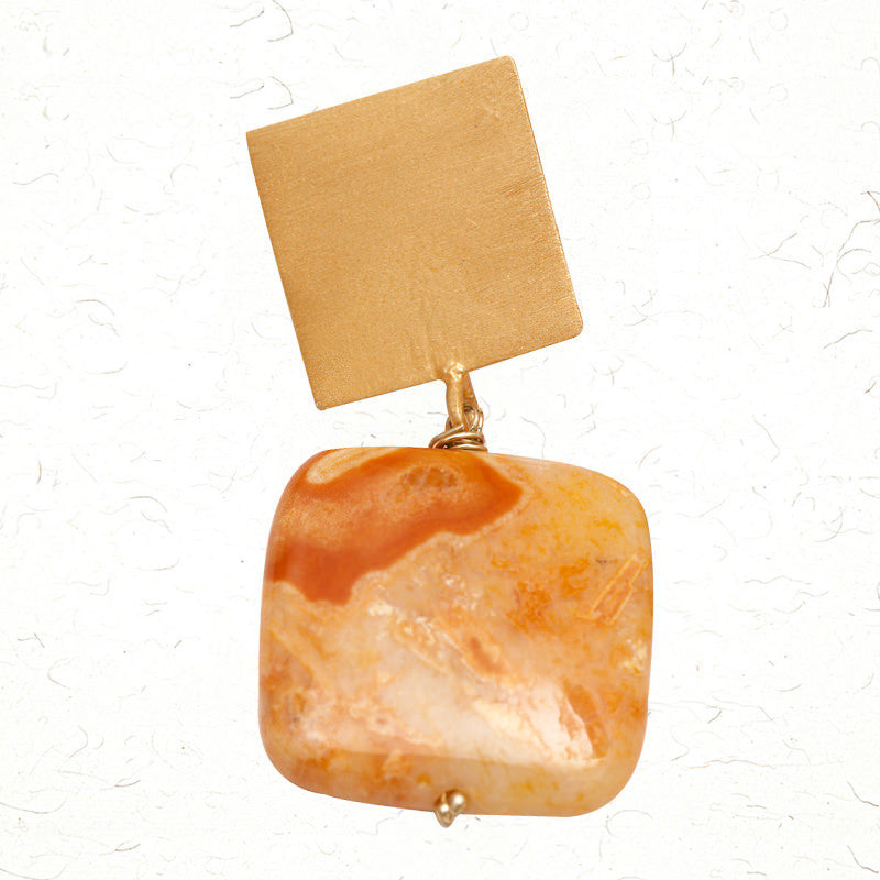 Caramel swirl earrings