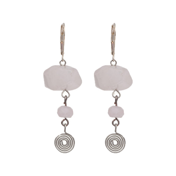 Pale pink earrings