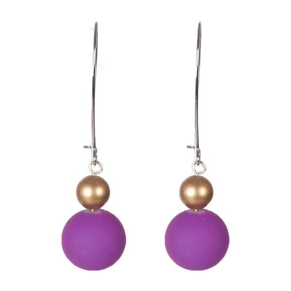 Bits and bobs earrings Purple