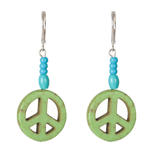 Cyclops earrings Green