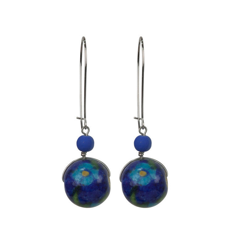 Matki earrings set Blue & Green
