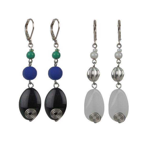 Jedi earrings set Black & White