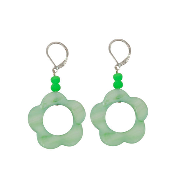 Bloom earrings Green