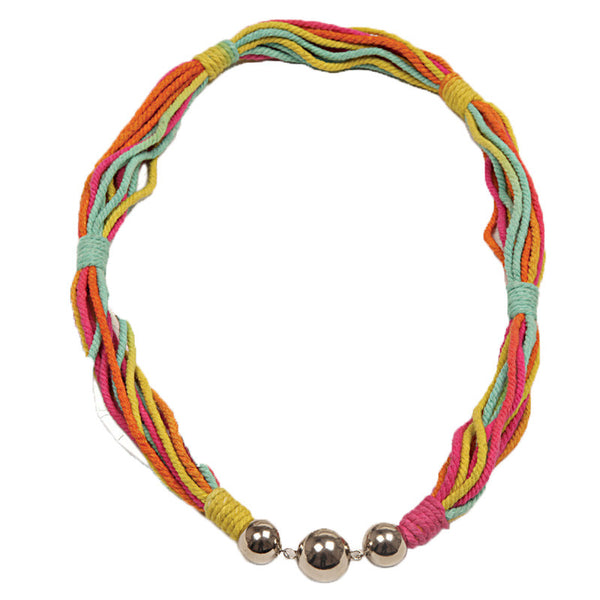 Fabulloso Multicoloured Jute Necklace