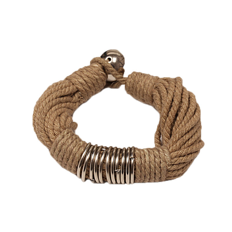 Fabulloso Jute and Chrome Bracelet