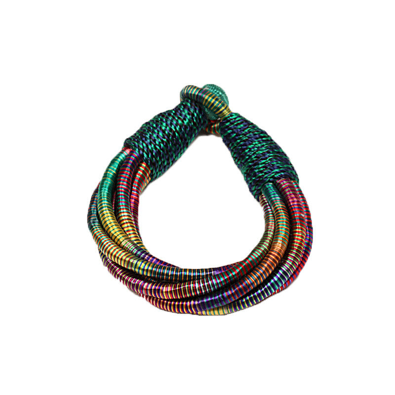 Fabulloso Raw Silk Multicolour Bracelet