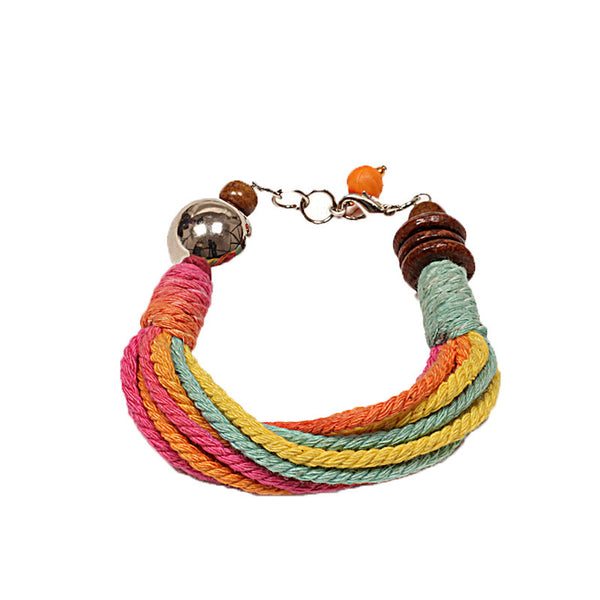 Fabulloso Multicoloured Jute Bracelet