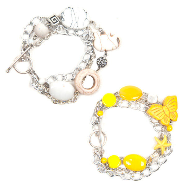 Charmis bracelet set Yellow & White