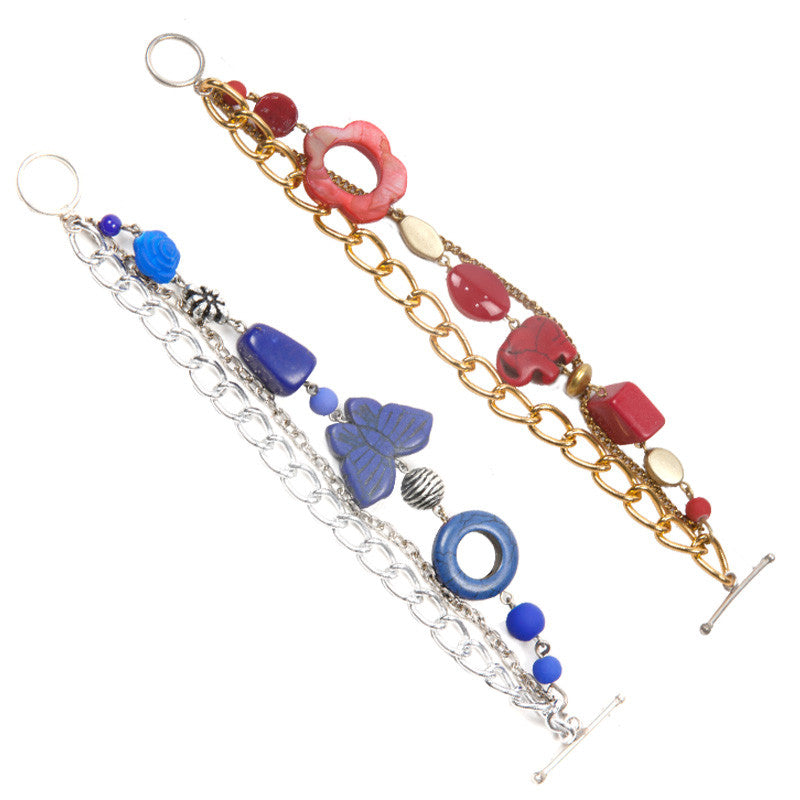 Celebrate bracelet set Red & Blue