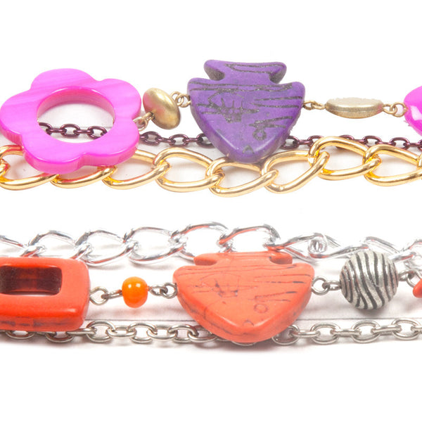 Enchanted bracelet Purple & Orange