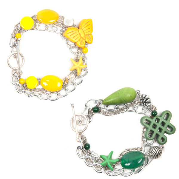 Enchanted bracelet Green & Yellow