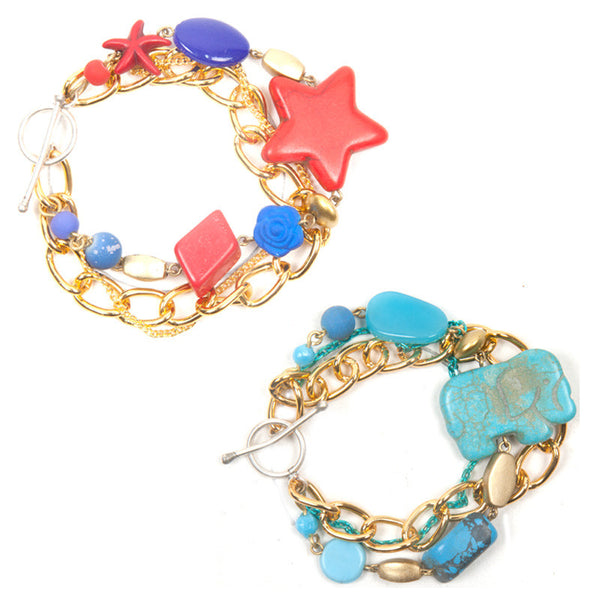 Enchanted bracelet Blue & Red