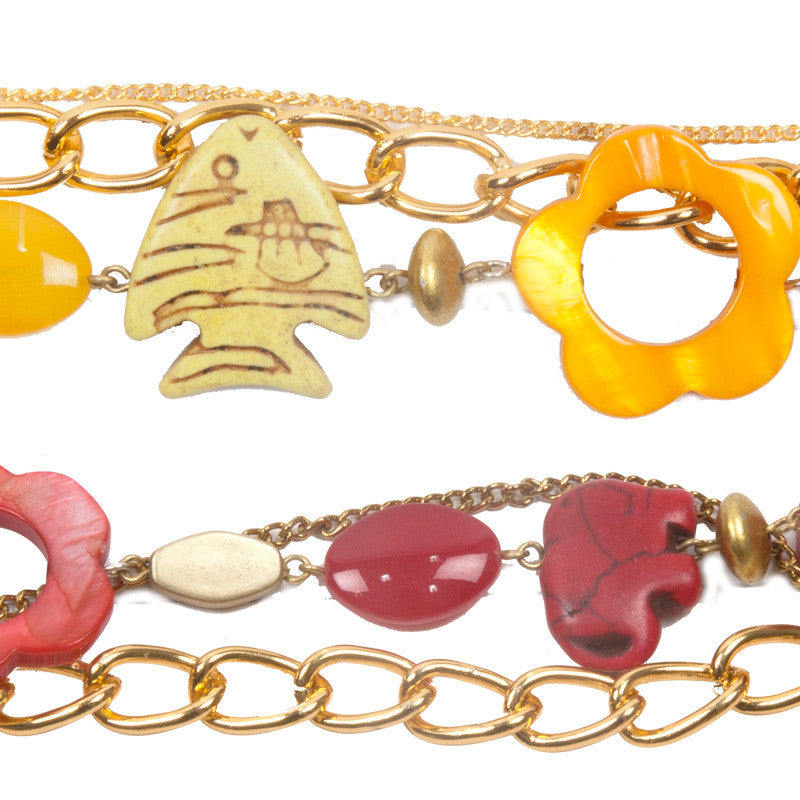 Enchanted bracelet Red & Yellow