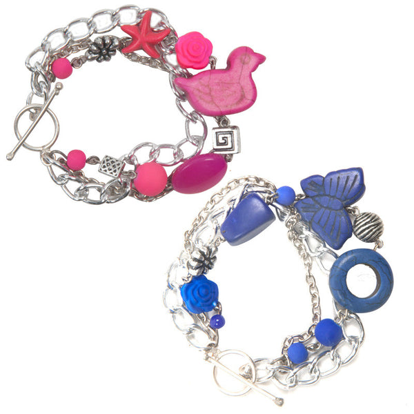 Enchanted bracelet Pink & Blue