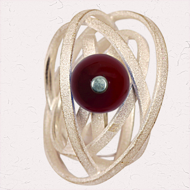 Silver orbits ring Maroon