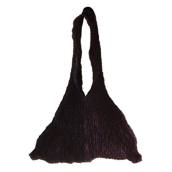 Crinkled potli bag Black