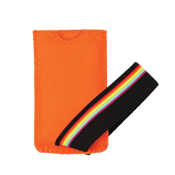Rainbow rush smartphone case Orange