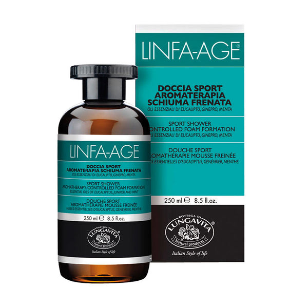 Linfa Age Sport Bath and Shower Gel with Eucalyptus, Juniper and Mint Essential Oils
