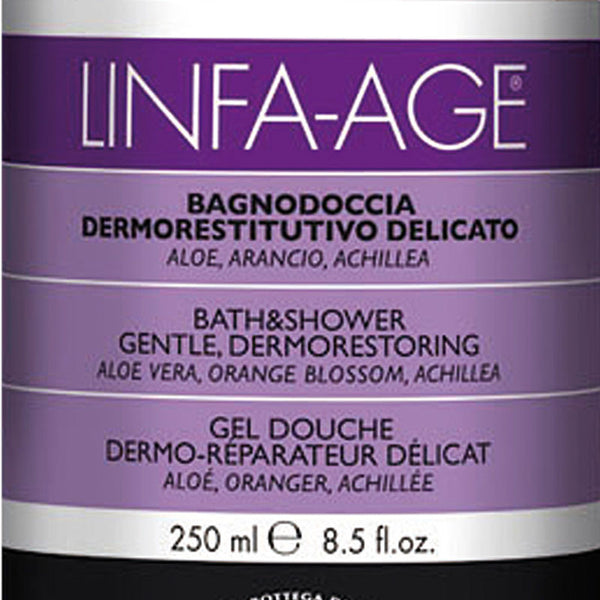 Linfa Age Gentle Bath and Shower Gel with Aloe, Orange Blossom and Yarrow