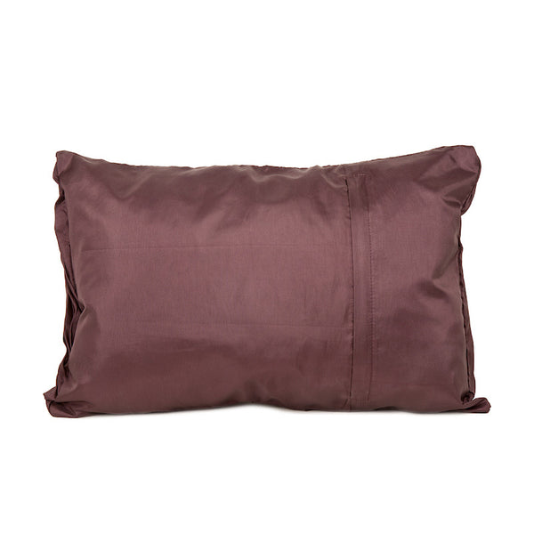 Fabulloso Cross Pleated Cushion Cover Brown