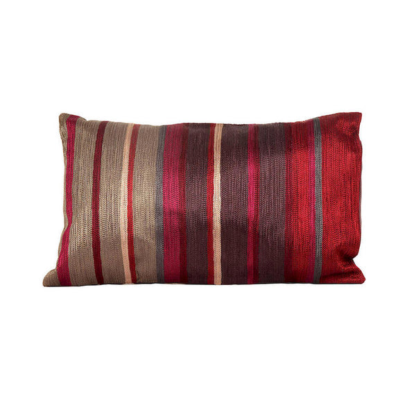 Fabulloso Maroon Aari Embroidered Cushion Cover