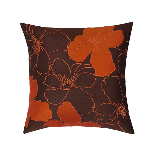 Fabulloso Patchwork Orange and Brown Cushion Cover