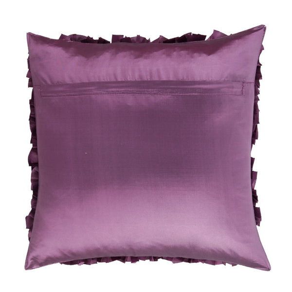 Fabulloso Violet Ruched Cushion Cover