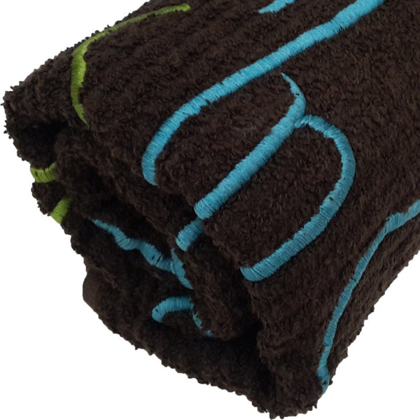 Leaf Designs Brown Bath Today Towel