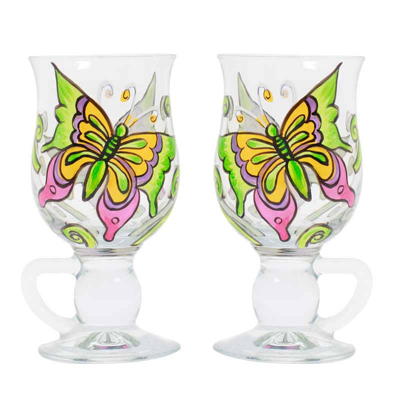 Butterfly coffee cup set