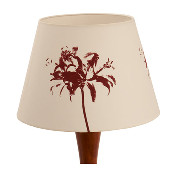 Floral splash lampshade Red