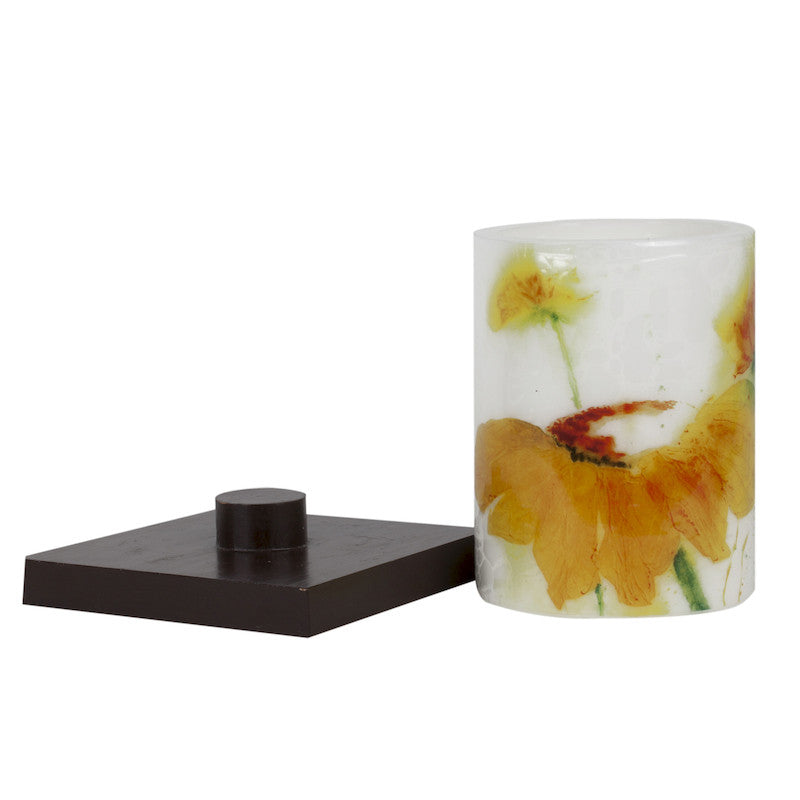 Sunflower permanent candle
