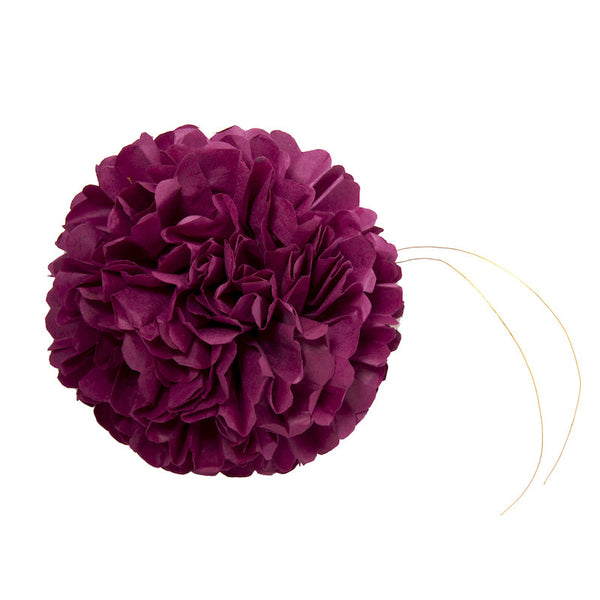 Purple paper flower set of 5