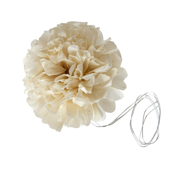 White paper flower set of 5