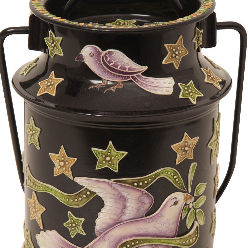 Enamelled milk can Black
