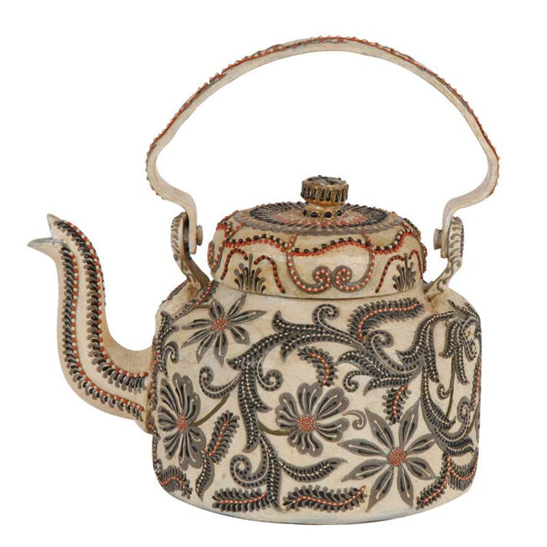 Only love enamelled kettle Ivory