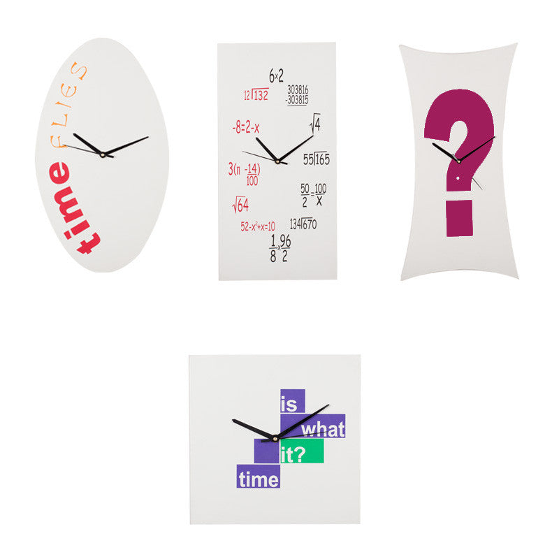 Fabulloso Riddle Me White Wooden Wall Clock