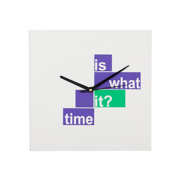 Fabulloso What Time Is It  Wooden Wall Clock